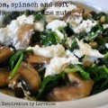 mushroom+spinach+goats+cheese