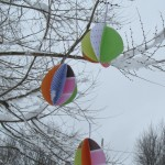Paper egg ornaments for Easter