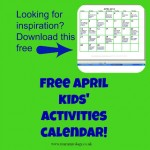 Free April Kids' Activity Calendar!