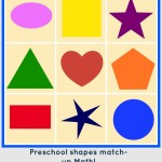 Preschool Math: Shape match-up!