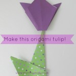 Make a simple origami tulip!