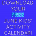 June activity calendar pinterest image