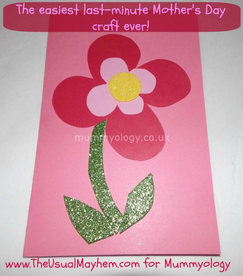 The easiest last-minute Mother's Day craft ever! - Mummyology